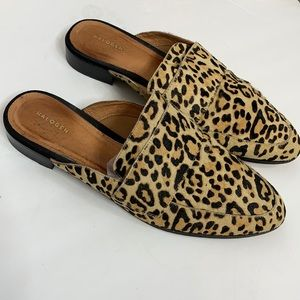 Halogen Cheetah Print Calf Hair Loafer Mules 10